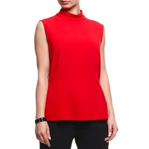 Escada Sleeveless Turtleneck Top